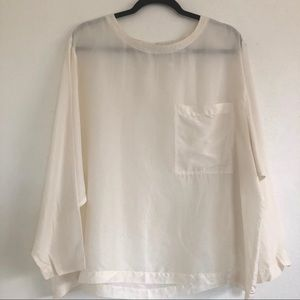 Compagnie Int. Express Long Sleeve Silk Blouse.